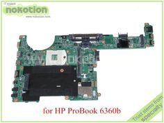 61.20$  Buy here - http://alid4e.worldwells.pw/go.php?t=32543561490 - 48.4KT01.021 643216-001 For hp probook 6360B laptop motherboard HM65 DDR3