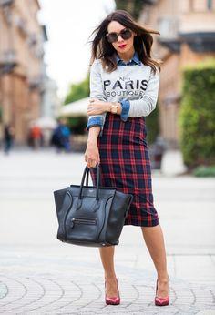 Mango  Jerseys, Gap  Camisas / Blusas and Zara  Faldas