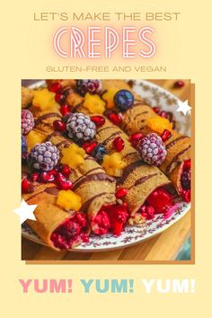 This is the best recipe for gluten-free crepes. The recipe is so easy to make and perfectly delicious. These crepes are gluten-free, dairy-free, and vegan. So this recipe s perfect for many people with allergies or food intolerances. #healthy /Healthy crepes recipe. Simple gluten-free crepes. Easy crepes recipe. Homemade vegan crepes. No gluten in crepes. Breakfast recipe ideas.