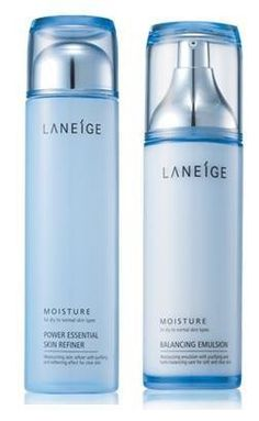 KOREAN COSMETICS, Amorepacific_ Laneige, New Basic 2-piece set (POWER ESSENTIAL SKIN REFINER_MOISTURE 200ml BALANCING EMULSION_MOISTURE120ml) (moisturizing, skin cleansing, nutrition)[001KR] by Laneige. $82.00. Note to the first users : If you have  not used this item before, try the cosmetic with small amount on your skin. If you find any trouble with the product, please stop using and discuss with your skin expert or doctor. If you have any allergy or trouble...