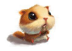 大头松鼠来自哆啦a梦的萌的图片分享-堆糖网;