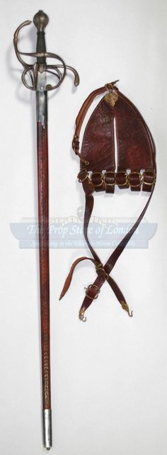 Sir Walter Raleigh (Clive Owen) Sword, Scabbard, Belt and Belt Rig