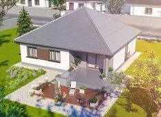 Home Building Design, Building A House, Bungalow Landscaping, Village Houses, Good House, Design Case, Exterior Design, Gazebo, House Plans