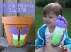 Footprint Butterfly Flower Pot | Mama.Papa.Bubba.