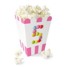 Fem År / 5 års jubileum - Rosa Nonstop Popcornbeger Popcorn, Planter Pots, Container, Party, Fire, Caramel, Fiesta Party, Parties, Canisters