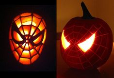 Five Easy Pumpkin Carving Ideas For Halloween - - The supermarkets are full of them. I am talking about those giant, orange pumpkins. Halloween just wouldn't be the same without them. Some people can really. Pumkin Carving Easy, Disney Pumpkin Carving, Amazing Pumpkin Carving, Pumpkin Carving Patterns, Pumpkin Carvings, Carving Pumpkins, Cute Pumpkin, Pumpkin Crafts, Purple Pumpkin