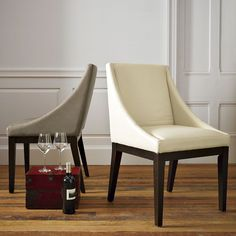 Curved Leather Chair | west elm