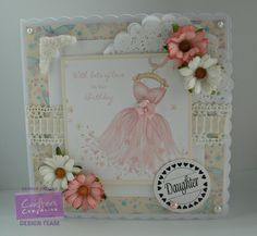 Gaynor Greaves - Sugar and Spice CD rom - Watercolour card - Centura Pearl Hint of Gold - #crafterscompanion