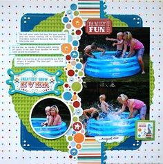 """Summer"" scrapbook page"