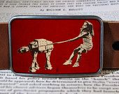 at-at fetch star wars belt buckle, vintage inspired, geekery 276. $19.00, via Etsy.