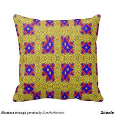 Abstract strange pattern pillows