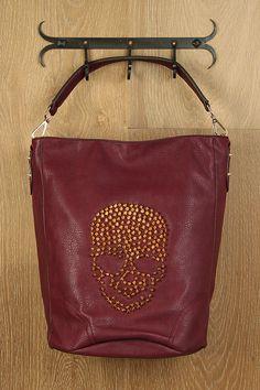 Studded Skull Bucket Bag $42 - what a cool ass bag!!