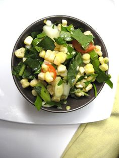 Fresh corn salad and the end of summer