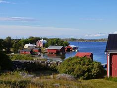 In the photo above, you can see the small, picturesque village of Utö on a calm summer evening, but what you can not see is the old station of the Defence Forces, where also the new guest harbour has been built. Summer Evening, Archipelago, My Dream Home, Finland, Nautical, Sailing, Contrast, Old Things, Sea