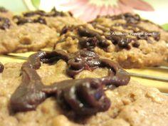Dark Chocolate Peanut Butter & Oatmeal Cookies