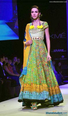 Anarkali by Pragya & Megha at Lakme Fashion Week Winter / Festive 2013