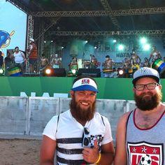 Tem torcedor americano que não quer ir embora de Natal! emoji Estes dois aproveitaram para curtir uma boa música brasileira aqui na #fanfestnatal #jáécopa #natal2014 #fifaworldcup #fifaworldcupbrazil #brasil2014 #natal #natalrn #worldcup2014 #worldcup