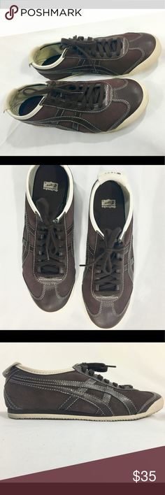 """Onitsuka Tiger by ASICS Mexico women's 10 Pre-owned, only worn a few times; comes with box; women's size 10!or men's size 8.5; color is """"coffee bean/birch"""" Onitsuka Tiger by Asics Shoes Sneakers"""