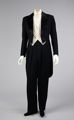 (a, b) House of Lanvin (French, founded 1889). Tuxedo, 1927. The Metropolitan Museum of Art, New York. Brooklyn Museum Costume Collection at The Metropolitan Museum of Art, Gift of the Brooklyn Museum, 2009; Gift of Albert Moss, 1967 (2009.300.906a–f) #halloween #costume