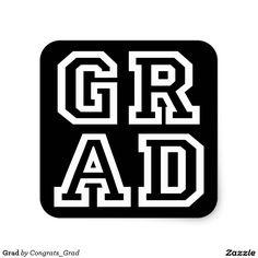 Grad Square Sticker