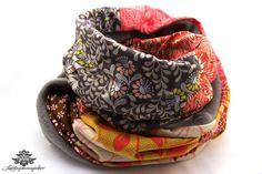Schal mit Blumenmuster / Winter Schlauch-Schal mit Fleece von #Lieblingsmanufaktur