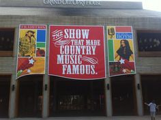 Graphic Design- Grand Ole Opry banners