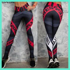 Compare Discount Maoxzon Womens Letter Print Sexy Slim Fitness Workout Bodycon Pants Fashion Active Elastic Skinny Leggings Trousers For Female Yoga Leggings, Women's Sports Leggings, Legging Sport, Sport Pants, Workout Leggings, Leggings Are Not Pants, Yoga Pants, Workout Pants, Gym Pants