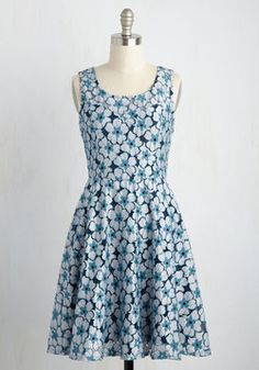 My Fun True Love Dress. Twirl and twist in this lace dress, and youll soon find yourself head over zeal with its playful energy. #blue #modcloth