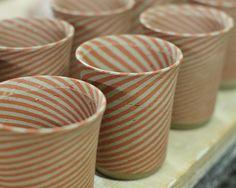 フリーカップ …腰痛い . #練り込み技法 #金太郎あめ #練り込み #EarthewareProduct #ceramic #pottery #器 #nerikomi #水野智路 #模様 #pattern #ストライプ #stripe #フリーカップ