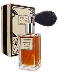 """Reglisse Noire"" by 1000 Flowers. Smells like white pepper, ozone, mint, shiso leaf, star anise, ginger, licorice, cocoa, patchouli, vanilla, vetiver and musk. Sounds like a heady scent."