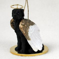 Great Dane Black Angel Ornament