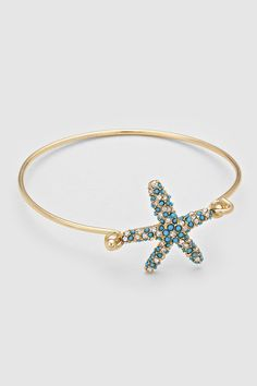 Starfish Bracelet Dotted in Turquoise on Emma Stine Limited