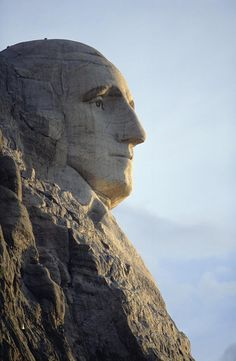 George Washington's face on Mount Rushmore in SOUTH DAKOTA