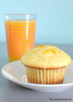 Fluffy and light Glazed Orange Juice Muffins Recipe with an orange juice glaze for added sweetness.