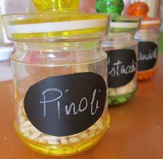 Etichette lavagna per barattoli, idea creativa veloce