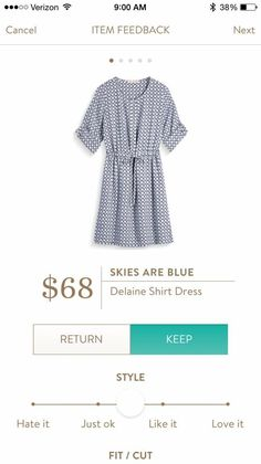 Gladys: I love shirt dresses. They are so preppy! This one is definitely my style!!