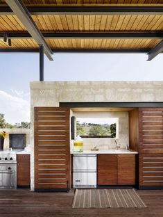 ingenious summer houses | Elegant-kitchen-offers-wonderful-views-of-the-low-rolling-hills-in-the ...