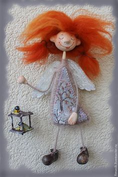 Fairy Crafts, Angel Crafts, Doll Crafts, Diy And Crafts, Clay Dolls, Felt Dolls, Dolly Doll, Felt Fairy, Christmas Sewing