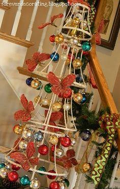 lampshade Christmas tree