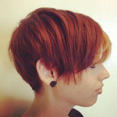 Longer pixie - cut and color by Mikyla @ The Shop Salon