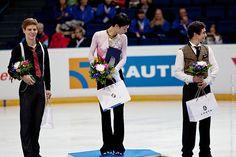 Yuzuru Hanyu, Javier Fernandez, Richard Dornbush by zhem_chug, via Flickr
