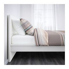 IKEA - MALM, Bed frame, high, Lönset, Standard Double, , Adjustable bed sides allow you to use mattresses of different thicknesses.39 slats of layer-glued birch, divided into 5 comfort zones, adjust to your body weight and increase the suppleness of the mattress.