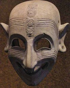 Phoenician grinning mask (5th century BCE) from Sardinia