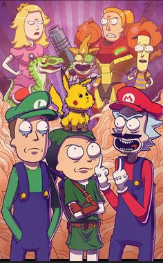 Working on a slew of new prints for an upcoming show, the Long Island Retro Games Expo Here's my Mike Vasquez's and my Rick and Morty meets Smash . COLLAB PRINT - Rick and Morty Meet Smash Bros Cartoon Cartoon, Cartoon Kunst, Rick And Morty Crossover, Rick I Morty, Rick And Morty Poster, Ricky And Morty, Fan Art, Animes Wallpapers, Geek Culture