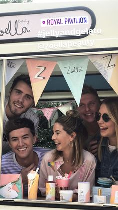 Zoe and Alfie with their friends