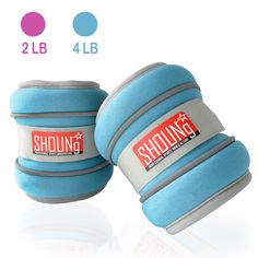 SHOUNg Adjustable Velcro Strap Fit Ankle Weight or Wrist Weight Sets with Safe Reflection Designed (Pink Blue, 4lbs). The whole set weight 4lb (each weight 2lb). Unique reflective design of the edge guarantees your safety in the dark. The interior material is soft, movable iron sand that won't cause you any pain no matter how intense excise you do. Suitable for indoor and outdoor exercises; it goes well with other movements and can enhance the effect of exercise. Adjustable velcro strap...