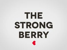 Naming y diseño de packaging para The Strong Berry