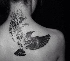 Back dove tattoo