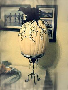 Halloween craft pumpkin with bling.