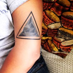 Triangle mountain tattoo